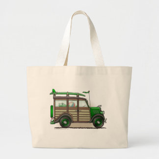 Green Woody Wagon Bags/Totes Jumbo Tote Bag