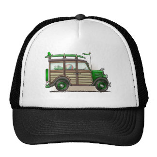 Green Woody Wagon Hats