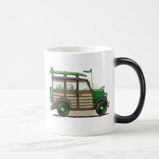 Green Woody Wagon Mugs