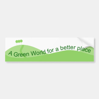 Green World Bumper Sticker