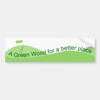 Green World Bumper Sticker
