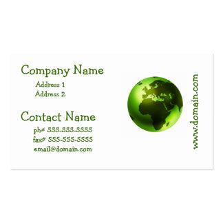 Green World Business Cards