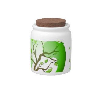 Green World Candy Jars