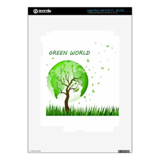 Green World Decals For iPad 3