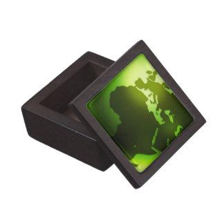 Green World Gift Box Premium Keepsake Boxes