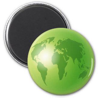 Green World Globe Magnet