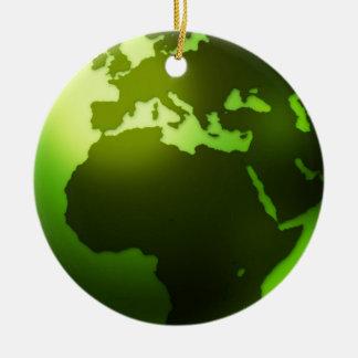 Green World Ornament