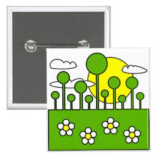 Green World Pinback Button