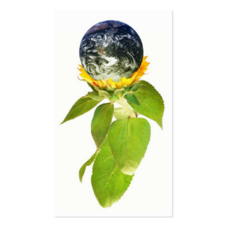 Green World Profile Card Double-Sided Standard Business Cards (Pack Of 100)