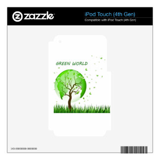 Green World Skin For iPod Touch 4G
