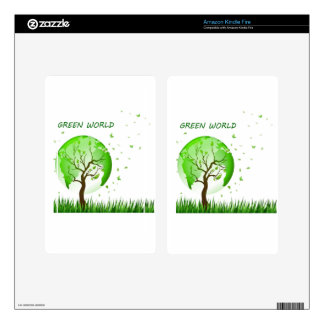 Green World Skins For Kindle Fire