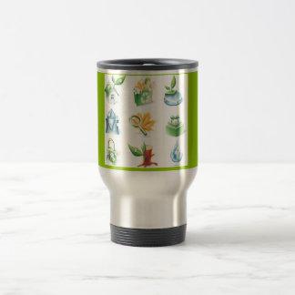 Green World Vector Icons Coffee Mugs