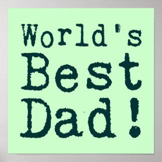 Green World's Best Dad Print