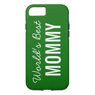 Green World's Best Mommy Custom iPhone 7 Case