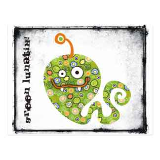 Green Worm lunatiks! Postcard