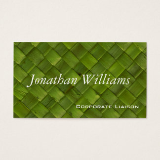 Green Woven Rattan Professional Business Cards