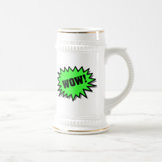 Green Wow Beer Stein