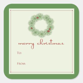 Green Wreath Gift Tag