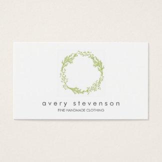 Green Wreath Logo Nature Business Card