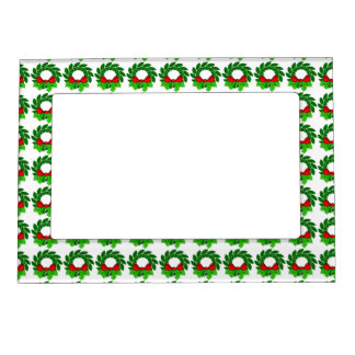 Green Wreath Magnetic Picture Frame
