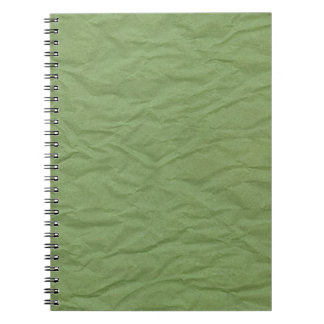 Green Wrinkled Paper Texture Spiral Note Book
