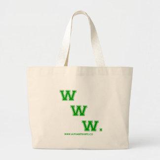 Green WWW Tote Bag