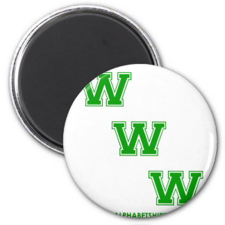 Green WWW Magnets