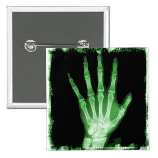Green X-ray Skeleton Hand Pins