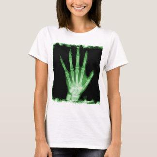 Green X-ray Skeleton Hand T-Shirt
