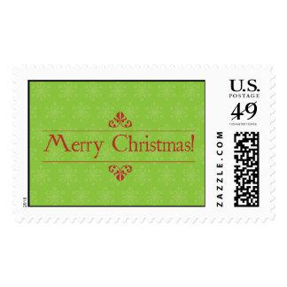 Green X'mas postage