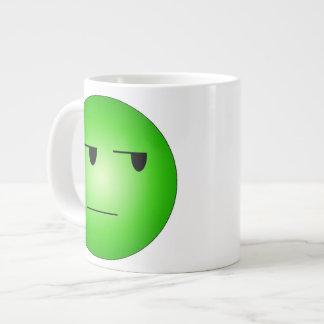 Green Yeah Right Smiley Large Coffee Mug