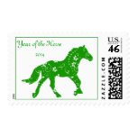 Green Year of the Horse Postage Stamp