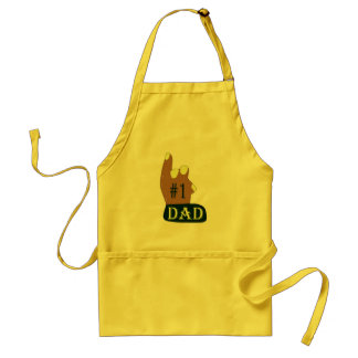 Green Yellow #1 Dad Adult Apron
