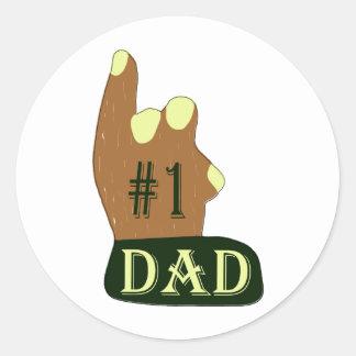 Green Yellow #1 Dad Classic Round Sticker