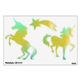 Green & Yellow Abstract Art Wall Sticker
