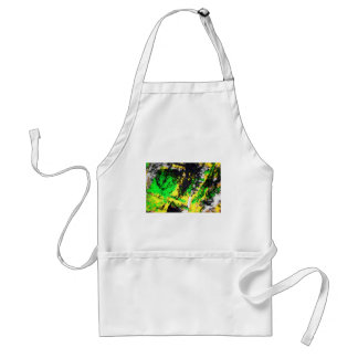 Green Yellow Abstract Design Aprons