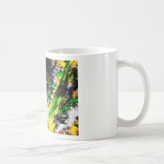 Green Yellow Abstract Design Coffee Mug