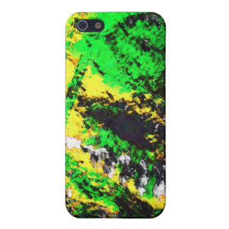 Green Yellow Abstract Design Cover For iPhone SE/5/5s