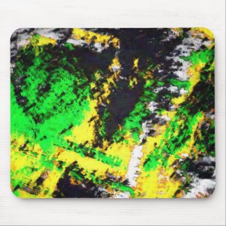 Green Yellow Abstract Design Mouse Pad