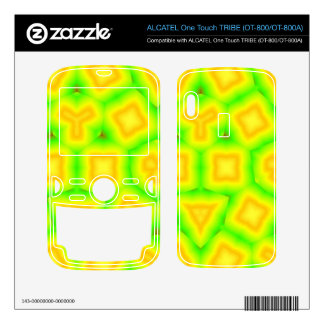 Green & Yellow Abstract pattern ALCATEL Tribe Skin