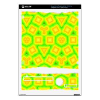 Green & Yellow Abstract pattern Xbox 360 S Decals