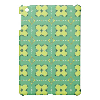 Green & Yellow Abstract Print iPad Case