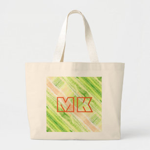 6839d8a23f46c8 Green yellow abstract watercolor large tote bag