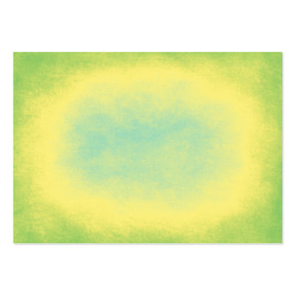 Green, yellow and blue abstract texture large business cards (Pack of 100)