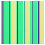 [ Thumbnail: Green, Yellow, and Blue Colored Pattern Fabric ]
