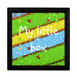 Green Yellow and Blue Hidden Egg with Stars Keepsake Boxes