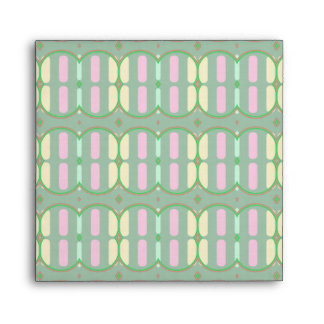 Green Yellow and Pink Pattern Envelope
