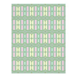 Green Yellow and Pink Pattern Letterhead