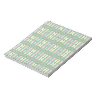 Green Yellow and Pink Pattern Notepad