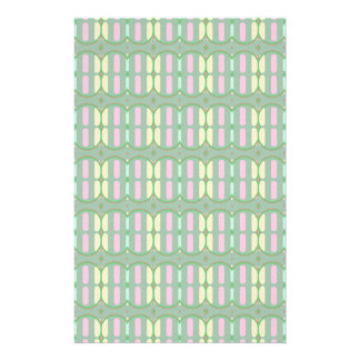 Green Yellow and Pink Pattern Stationery